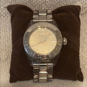 Coach Andee White Face Silver Watch Steel